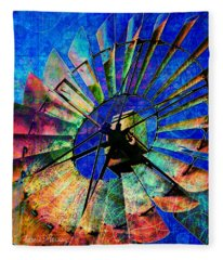 Windmill Power Fleece Blanket