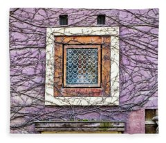 Window And Vines - Prague Fleece Blanket