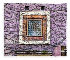 Window And Vines - Prague Fleece Blanket
