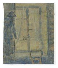 Window In The Bataille Restaurant Paris, February - March 1887 Vincent Van Gogh 1853 - 1890 Fleece Blanket