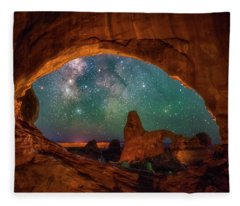 Window To The Heavens Fleece Blanket