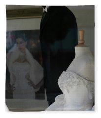 Window Wedding Attire Fleece Blanket