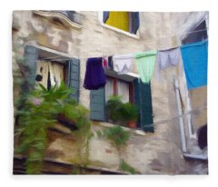 Windows Of Venice Fleece Blanket
