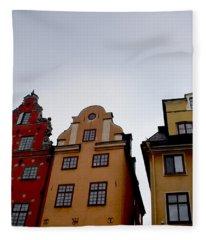 Windows On Gamla Stan Fleece Blanket