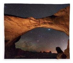 Windows To Heaven Fleece Blanket