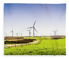 Winds From West Woolnorth Fleece Blanket