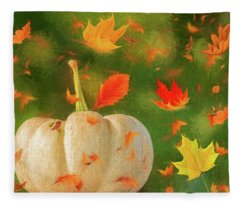 Winds Of Autumn Fleece Blanket