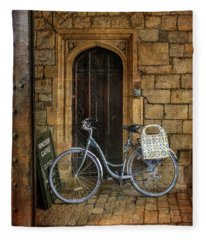 Windsor Castle Bicycle Fleece Blanket