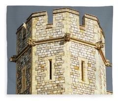 Windsor Castle Detail Fleece Blanket