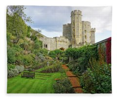 Windsor Castle Garden Fleece Blanket