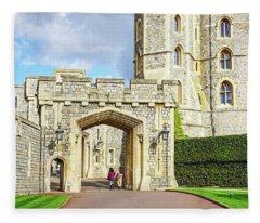 Windsor Castle Walk Fleece Blanket