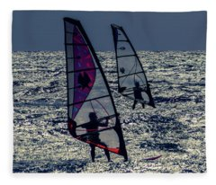 Windsurfers Fleece Blanket