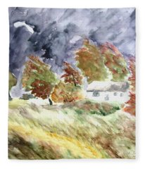 Windswept Landscape Fleece Blanket
