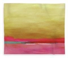 Windswept Sunrise- Art By Linda Woods Fleece Blanket