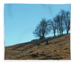 Windswept Trees - December 7 2016 Fleece Blanket