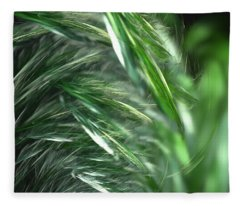 Windy Fractal Field Fleece Blanket