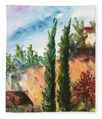 View Of Rancho California Road Fleece Blanket