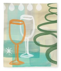 Wine For Two Fleece Blanket