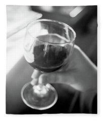 Wine In Hand Fleece Blanket