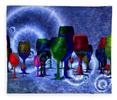 Wine  Fleece Blanket