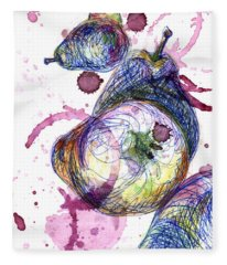 Wine Pearing Fleece Blanket