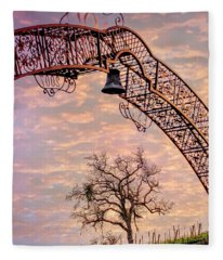 Winery Gate Fleece Blanket