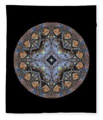 Winged Creatures In A Star Kaleidoscope #1 Fleece Blanket