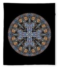 Winged Creatures In A Star Kaleidoscope #3 Fleece Blanket