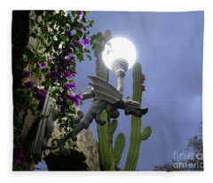 Winged Gargoyle In El Fuerte Fleece Blanket