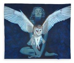 Winged Heart Fleece Blanket