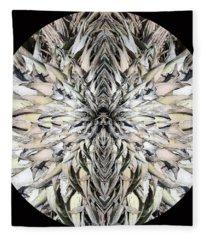 Winged Praying Figure Kaleidoscope Fleece Blanket