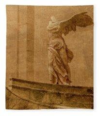 Paris, France - Louvre - Winged Victory Fleece Blanket
