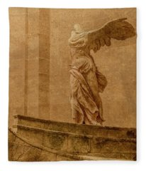 Paris, France - Louvre - Winged Victory Fleece Blanket