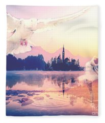 Wings Of Grace Fleece Blanket