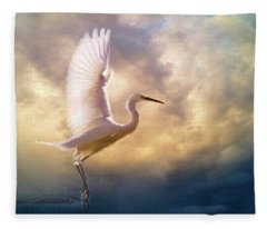 Wings Of Light Fleece Blanket