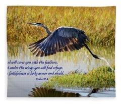 Wings Of Refuge With Scripture Fleece Blanket