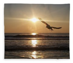 Wings Of Sunrise Fleece Blanket