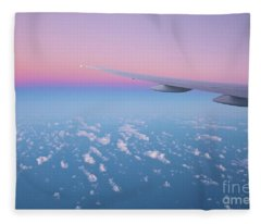 Wings Over The Ocean Fleece Blanket