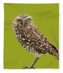 Winking Owl Fleece Blanket