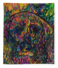 Winnie The Dog Fleece Blanket