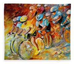 Winning The Tour De France Fleece Blanket
