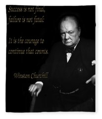 Winston Churchill 1 Fleece Blanket