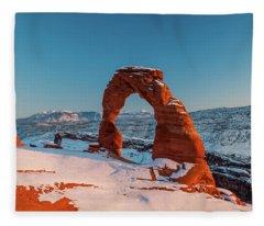 Winter Arch Fleece Blanket