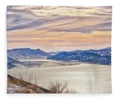 Winter At Horsetooth Reservior Fleece Blanket