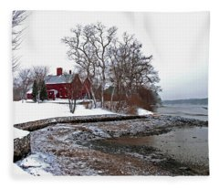 Winter At Perkins House  Fleece Blanket