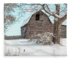 Winter Barn Fleece Blanket