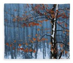 Winter Beech Fleece Blanket