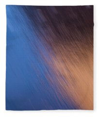 Winter Canyon Blues Fleece Blanket