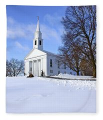 Winter Church Fleece Blanket