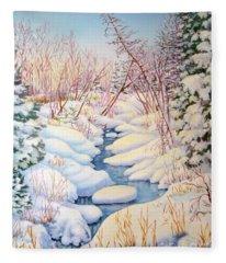 Winter Creek 1  Fleece Blanket